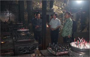 Direktur Tinjau Lokasi Kebakaran TITD Kelenteng Liong Hok Bio