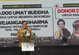 Menteri Agama Doa dan Donor Darah Bersama Ribuan Umat Buddha Nusantara Untuk Negeriku Indonesia