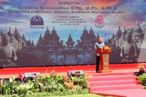 Peringatan Waisak, Nyoman apresiasi umat Buddha peduli sesama