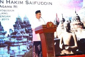 Waisak di Borobudur, Menag Ulas Dhammapada 168