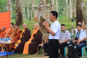 Umat Buddha Adakan Napak Tilas Waisak di Situs Sriwijaya Kota Kapur