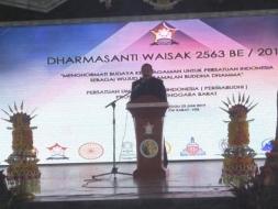Dhammasanti Waisak 2563 BE, Caliadi: Bangun Kebersamaan Bangun NTB