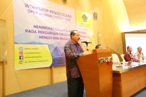 Workshop Open Jurnal Sistem (OJS), Caliadi: Jawab Tantangan Global Melalui Karya Ilmiah Dosen