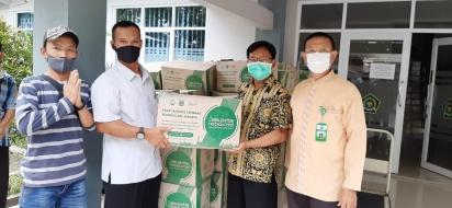 Distribusi Sembako, Suwanto: Tetap Jaga Kebersihan Tempat Ibadah