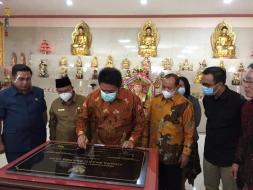 Dirjen Bimas Buddha Dampingi Gubernur Sumsel Resmikan Vihara Bhakti Dharma Yana
