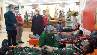 Jelang Imlek, Majelis Mahayana Tanah Suci Indonesia Adakan Donor Darah